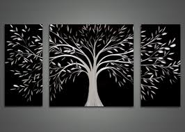 Black And White Metal Wall Art Fascinating Designs Abstract Tree