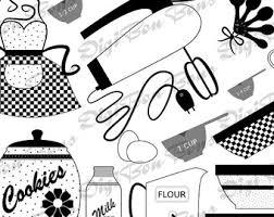 50s Kitchen Clipart