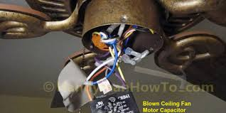 to replace a ceiling fan motor capacitor