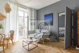 scandi stil wohnzimmer bilder myloview