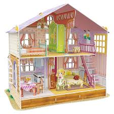 Miniature Doll House Diy Handcraft Kit Furniture Wooden House
