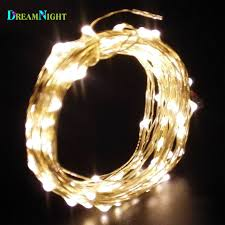 copper strings led light 4m 40leds battery operated garden