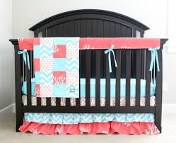 Teal And Coral Baby Bedding by 130 Best Coral Nursery Images On Pinterest Project Nursery
