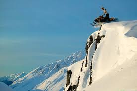 Picture Of Chugach Mountain Cliff Drop Alaska USA Image
