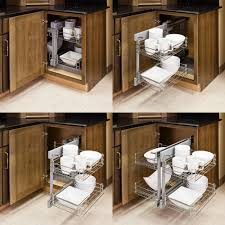Corner Pantry Cabinet Dimensions by Show Hand Metal Pull Out Unit For Blind Corner Cabinet Kitchen
