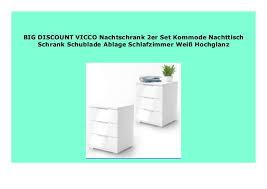 best buy vicco nachtschrank 2er set kommode nachttisch