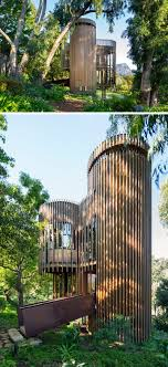 100 Modern Tree House Plans This Curvaceous Wooden Sits Among The S