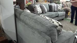 Claremore Antique Sofa And Loveseat by Ashley Furniture Yvette Steel Sofa U0026 Loveseat 779 Review Youtube