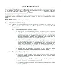 Affiliate Terms And Conditions Template 7 Marketing Contract Timeline Simple Consulting Co