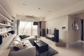 wohnzimmer in hellen farben und schwarze akzente schmales