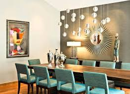 Dining Room Wallpaper Accent Wall Stone Long Black Table Metal Teal Paint Living