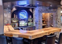 Rustic bar ideas home bar traditional with home bar stone walls