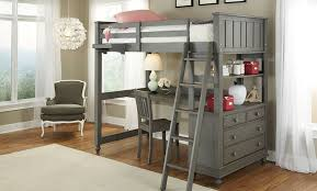 Twin Bed with Desk underneath and Double Bed