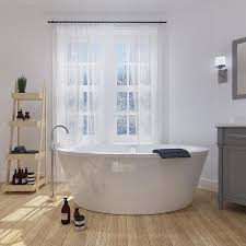 Immersion Water Heater For Bathtub by Shop Ove Decors Betsy 67 In Gloss White Acrylic Freestanding