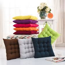 Soft Comfortable Seat Cushion Winter Spring Home Office Bar Chair Cotton Cushions Decor Square