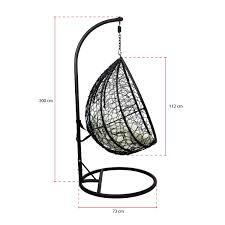 Charles Bentley Garden Rattan Hanging Swing Chair 5