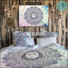 Bohemian Bedding Sun Mandala Set Bohochic Rustic Bedroom Vintage Decor