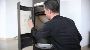 nettoyage d une vitre d un poêle à bois hase
