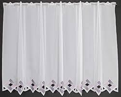 scheibengardine moderne lochstickerei 90 cm hoch breite der gardine durch gekaufte menge in 16 cm schritten wählbar anfertigung nach maß