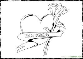 Best Friends Coloring Pages Printable