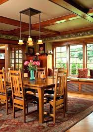 Mission Style Dining Table Room And Chairs