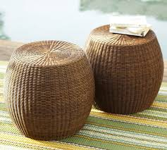 wicker ottoman round breakwater bay round wicker ottoman