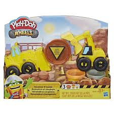100 Construction Trucks PlayDoh Wheels Excavator Loader Toy With NonToxic Sand Buildin Compound Plus 2 Additional Colors