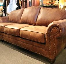 Western Style Leather Furniture Sectionals Lovable Sofa Rustic Brown Couch Couches