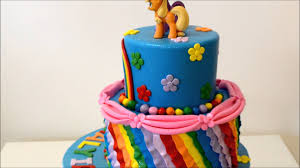 My Little Pony Cake Example Decorated with lot of colors