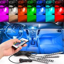 TSV 4pcs 36 LED Multi-color Car Interior Lights Under Dash Lighting ...