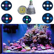 2018 spectrum 15w led aquarium lights par 30 e14 led reef