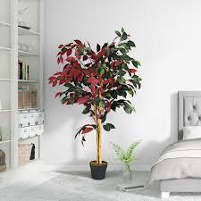 120 cm kunstpflanze kunstbaum zimmerpflanze dekopflanze künstlich pflanzen