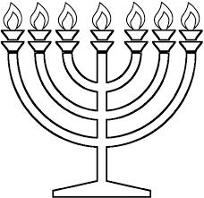 Coloring Pages Hanukkah Menorahs
