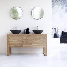 waschbeckenunterschrank aus massives teakholz 145 minimalys
