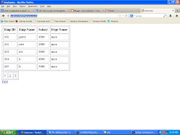 Java Mathceil Example And Output by Pagination Code Using Jsp And Servlet And Mysql Database Java