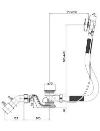 ab überlaufgarnitur ab überlaufgarnitur zu porta space durchmesser 40 50 mm kunststoff