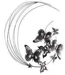 Metal Wall Decor Flying Butterflies Sculpture Eclectic Outdoor Art
