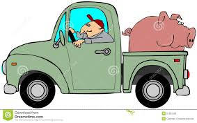 Truck Hauling A Hog Stock Illustration. Illustration Of Animal ...