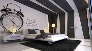 Bedroom Engaging Large Design With Remarkable Clock Wall Painting Also Alluring Modern Recessed