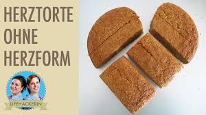 muttertag torte in herzform kuchen als herz selbermachen