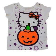 Halloween Maternity Shirts Walmart by Infant U0026 Toddler Girls White Hello Kitty Halloween Shirt Pumpkin