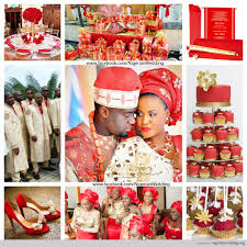 Nigerian Wedding Red And Gold Color Scheme 1