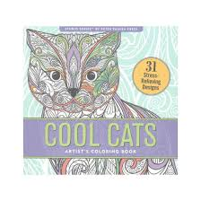 Cool Cats Artists Coloring Book 31 Stress Relieving Designs Paperback