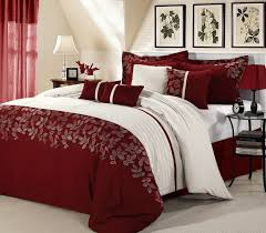 Inc International Concepts Bedding by 8pc Luxury Bedding Set Montana Burgundy White Cal King Queen