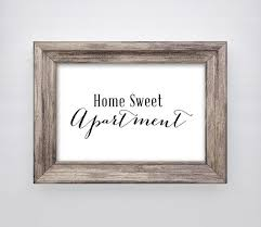 Home Sweet Apartment Print Wall Art Decor Quote Digital Instant Download On Etsy 200