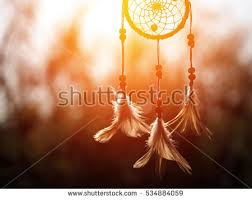 Dream Catcher Native American In The Wind And Blurred Bright Light Background Hope
