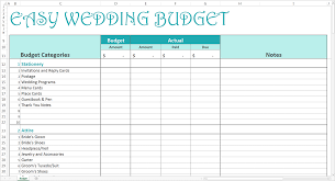 Wedding Budget Planning Template