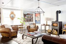 Rustic Brown Leather Couches Country Living Room Appears Appealing Interior Designoursign