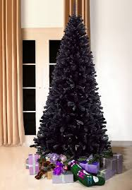 Black Bergen Pine Artificial Christmas Tree 7ft Tall 3ft Wide