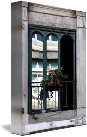 Balcony Flowers In Old Montreal By Andre Hugo